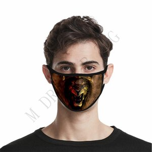 Maskeler Komik Yüz Maskesi 3D-Print Koruyucu Kulak-asılı Örtü Hayvan DHF1561 Yıkanabilir Yeniden kullanılabilir Ağız Yetişkin Unisex Tasarım Maskeler Maske yazdır