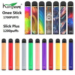 Original Kangvape descartável Pod Slick Além disso, 1.200 Puffs Onee Vara 1700 Puffs Vape vara Pen Bar Sistema Prefilled 6,2 mL