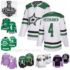 Custom 2020 Stanley Taza Finales 4 Miro Heiskanen Jersey Hombres Mujeres Niño Dallas Estrellas Hockey Invierno Clásico Verde Heritage Hombre Mujer joven