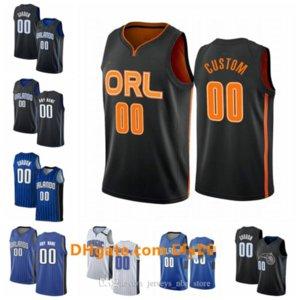 personalizadas en OrlandomagiaJersey Hombres Mujeres Número Nombre Gordon 00 5 1 Bamba McGrady jerseys del baloncesto Blanco Negro Azul