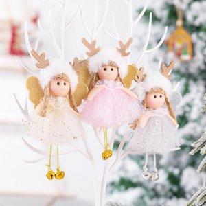 Árbol de Navidad creativo decoración Colgante bola linda del ángel cordón de la muñeca ornamento decoración del árbol de navidad Decoración