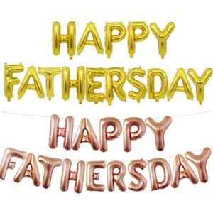 Balões de ar de Padres 16 polegadas felizes Carta Foil Dia balões Gold Silver Alphabet Banners O dia de pai Detalhes no pai