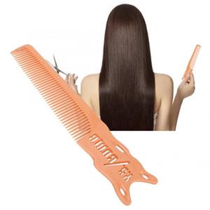 Saç Fırçası Profesyonel Saç kesimi Tarak Uzay Kuaför Kuaförlük Anti-Statik Alüminyum Tarak Profesyonel