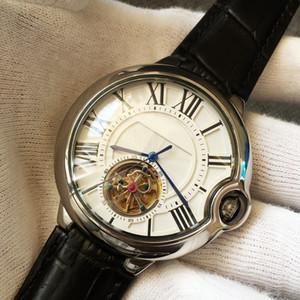 Lüks Erkek Saatler Tourbillon Mekanik Otomatik Hareket İzle Erkekler Gerçek Deri Kayış erkekler Spor saatı montre de luxe Y11 izle