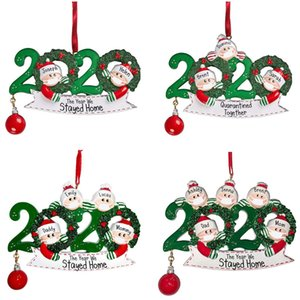 2020 Quarantine Christmas Ornament Christmas Tree pendent Decoration Gift Family Of Ornament with Resin Party Gift High Quality