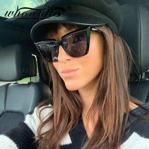 OMS CUTIE Gato retro gafas de sol de los ojos de las mujeres 2020 del marco del diseño de marca Cateye leopardo clásico elegante de moda de los vidrios de Sun Shades S324
