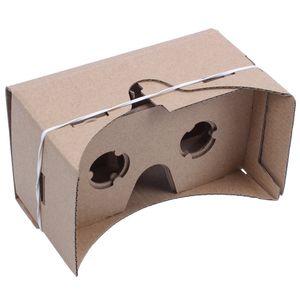 6 بوصة DIY 3D نظارات الواقع الافتراضي الصلب ل Google Cardboard