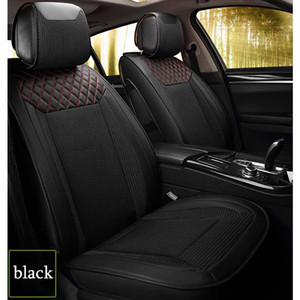 Leather Fabric Car Seat Cover Universal Stitching Automobiles Seat Covers Fits 5 Seat Car Interior Accessories