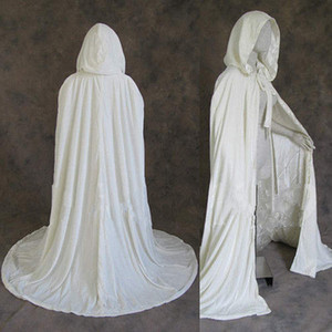 2021 Gothic Hooded Velvet Cloak Gothic Wicca Robe Medieval Witchcraft Larp Cape Women Wedding Jackets Wraps Coats Girl Cloak