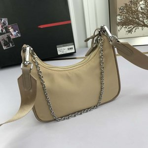 Nylon Hobo Famous Tote Crossbody bags Shoulder bag Chest bags with Coin Wallet Metal Chain For Women