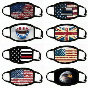Masques Manque Fournitures électorales américain Masque Anti-poussière Imprimer Masque universel pour les hommes femmes Drapeau américain Party # 651 Masques