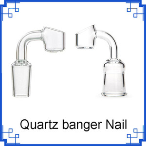 2020 Quartz Banger Male Female Degree Full weld Seamless 4mm Thick quartz danger Nail for dab rig bong 25mm Bevel Edge Top 0266317