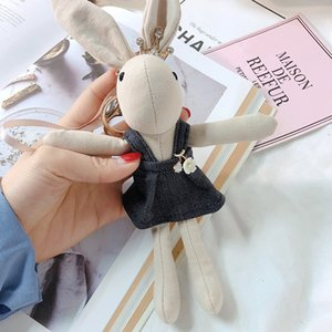 luxury Cartoon Strap Skirt Cute Little Doll Toy Pendant Key Chain Bag Car Key Ring Ornaments Women Decorative Gifts Girls