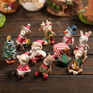 la decoración del hogar de dibujos animados escritorio estudio de la artesanía de los niños 80pcs de Navidad decoraciones de Navidad Figuras muñeca T500185 regalos