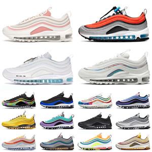 Air Max 97 airmax 97s off white mens chaussures de course femme Jayson Tatum Gym Red Tie Dye Chicago NEON SEOUL triple sneakers sport balle blanc argent noir formateurs