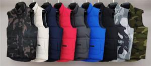 Moda Marka Erkek Yelek Lüks Klasik Aşağı Yelek Tasarımcı Parka Mont Kalın Ceket Katı Fermuar Kazak Kolsuz Üst Kalite 20091201T