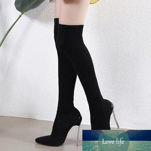 Designer-sexy elastic slim fit over the knee thigh high boots designer shoe