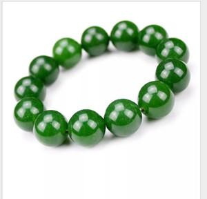 New factory wholesale spinach green Taiwan sapphire bracelet single circle round bead green jade bracelet