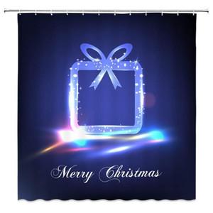 Merry Christmas Duş Perde Fantezi Pretty Hediye Rüya Yaratıcı Tasarım Goblen Banyo Perdeleri Polyester Kumaş Dahil