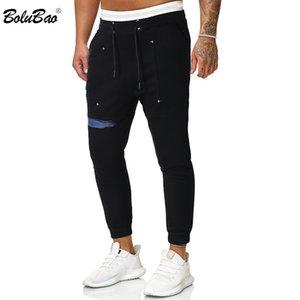Imprimir De Corpo Inteiro Calças de BOLUBAO Primavera Outono Homens Sweatpants na moda Marca Homens de idade Elasticidade Calça Casual Masculino