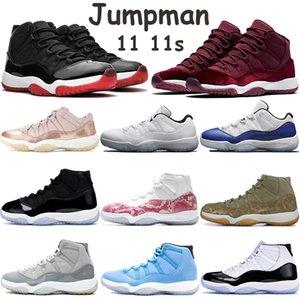 scarpe da basket Jumpman 11 11s alta allevati tappo grigio freddo e abito concordia 45 ereditiera notte marrone bassa legen mens blu scarpe da tennis
