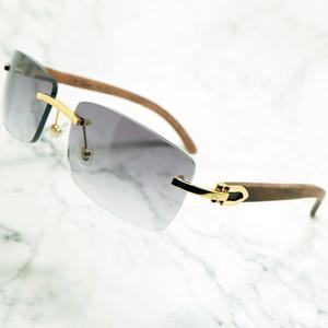 Mavi Carter Ahşap Lüks Gözlük Erkek Tasarımcılar Güneş Gözlüğü Moda Erkekler Için Çerçevesiz Güneş Gözlüğü Kadın Shades Gafas de Sol de Diseñador 2021