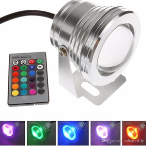 10W impermeabile LED Illuminazione subacquea RGB Faretti 12V DC RGB con 24 chiave IR telecomando Pool Fountain Pond