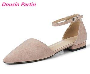 Dousin Partin Femmes Pompes Chaussures Femmes talon carré talon bout pointu sélectionl Casual Platform Deux femmes Piece Pompes LJ200925