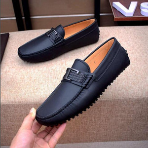 [Orignal Box] Luxury New T0d Mens Loafers Genuine Leather Slip On Flat Heel Wedding Business Dress Driving Shoes Size 38-45