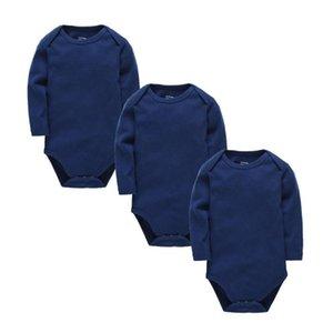 Kavkas Baby Bodysuits Cotton Girls Newborn Boy 3pcs Set Long Sleeve Jumpsuits Cute Baby Christmas Shirt