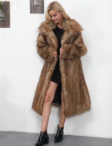 Female Outerwears Open Sitich Faux Female Fashion Ladies Casual Apparel Winter Womens Designer Fur Coats Long Sleeve Warm Thick