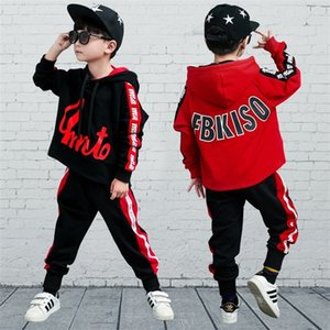 Big boy suit spring 2019 new hip hop dance clothes boys girls fall outfits two-piece clothing sets spring kids clothes christmas