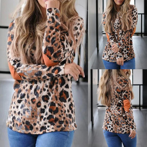 2020 women's new round neck leopard print long sleeve pullover knitting sweater soft and comfortable casual fashion best-selling