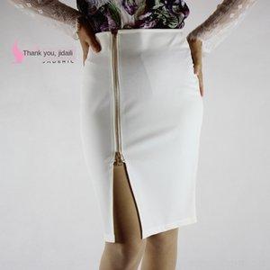Pk9C6 8sIyr Spring Summer 2020 split skirt knee-length 2020 hip-covered size women Spring Summer large zipper split skirt knee-length hip-cov