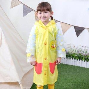 Children's raincoats for kindergarten baby kids students raincoats boys and girls waterproof poncho with schoolbag bit big brim