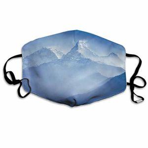 Máscaras de Navidad de dibujos animados montañas Annapurna deportes al aire libre a prueba de polvo respirable máscaras faciales