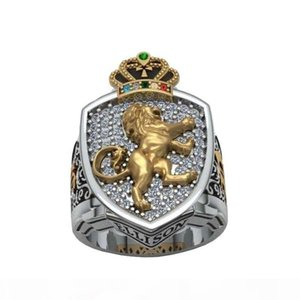 2020golden lion selling fashionable men and women in Europe and America Crown Ring Ring