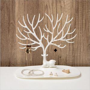 Trucco plastica Organizzatore Ramificazione gioielli a forma di scatola creativa organizzatore cosmetico anello Rossetto Rack mostra della collana di Organizer dt0025