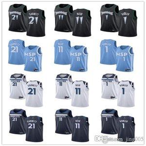 Para mujer para hombre de la JuventudMinnesotaTimberwolves1 NoahVMnleh 11 NazReid 21KevinGarnett costumbres jerseys del baloncesto