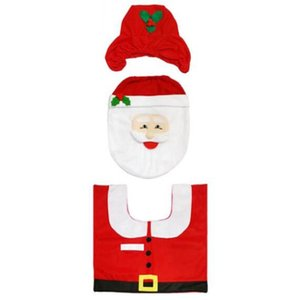 Decoración de Navidad Conjunto Aseo Baño Creative Set de Vestir Decoración Fantasía de Navidad de Santa Claus WC cubierta