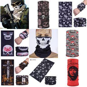 2020 Nuevo cráneo de Halloween 3 Agujero de la mascarilla del Warm Winter Beanie snowboard del esquí de punto las tapas de desgaste del pasamontañas de la cara llena Er máscara cosplay # 490