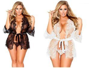 Plus Size Sexy Pajamas Fashion Ladies Underwear 2pcs Sets Female Apparel Womens Designer Underwear Lace Perspective