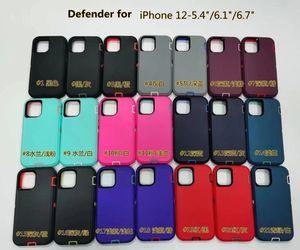 2020 Newst Defneder Durumda iPhone 12 için 12promax Samsnug S20 Note20 Çelik Zırh TPU PC Kılıfları Kapakları