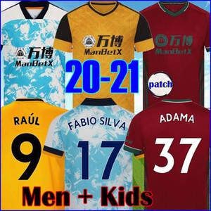 RAUL Wolves Maillots de football 20 21 NETO Wolverhampton Wanderers Podence DIOGO NEVES Maillot de football Dendoncker ADAMA Mens Jersey Enfants Kit