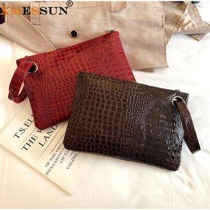 Партия кошелек женский дизайн крокодиловый конверт сумка мода xmessun ins clutch кошелек высокое качество K111 узор новый путешествие ретро hocpi