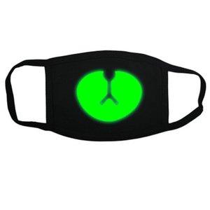 Karşısında Maskeler Maske Ve In Black Kafatası Siyah Beyaz Glow Karanlık Yüzü Kafatası Glow Ve Neopren Işıma beyaz The Face UHiER zlstore007