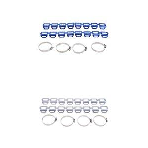 Agotar la protección del silenciador del tubo por un BMW R1200 GS F800 F700 F650 Plata / Azul