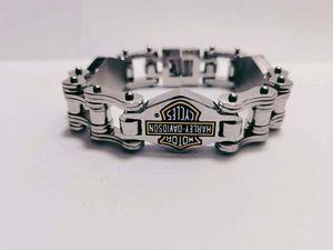 Männer schmuck silber schwarz farbe edelstahl harley armband europäische und amerikanische mode trend harley schmuck kostenloser versand