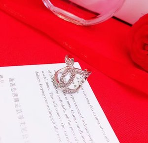 Top quality Open Slender Female Jewelry Celtic with hollow words Opening ring with diamond vintage women Jewelry PS6455