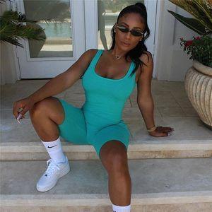 Seksi Kadınlar Kolsuz Romper Yoga Setleri Tulum Bandaj Spor Salonu Giyim Spor Bodysuit Kısa Pantolon Backless Şort tulum Pilz #